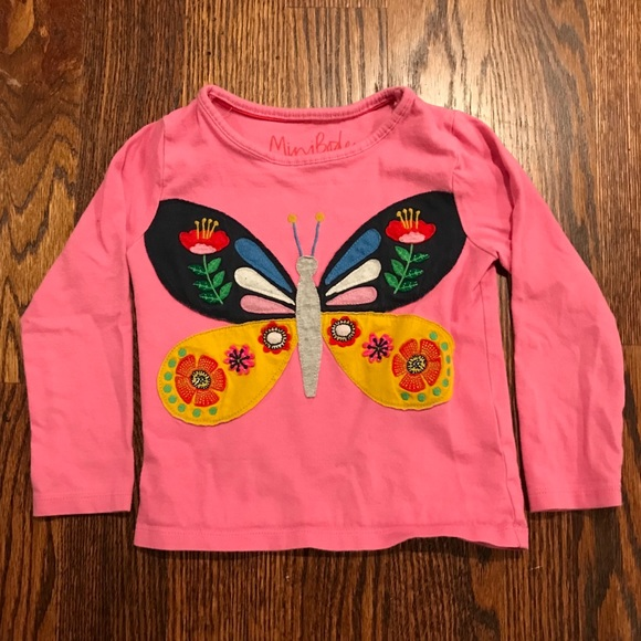 Boden Other - Mini Boden Butterfly Long Sleeve Tee